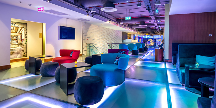 Lounge Seating of W XYZ Bar at Aloft Bangkok 35 Sukhumvit Soi 11,  Klongtoey-nua Wattana, Bangkok