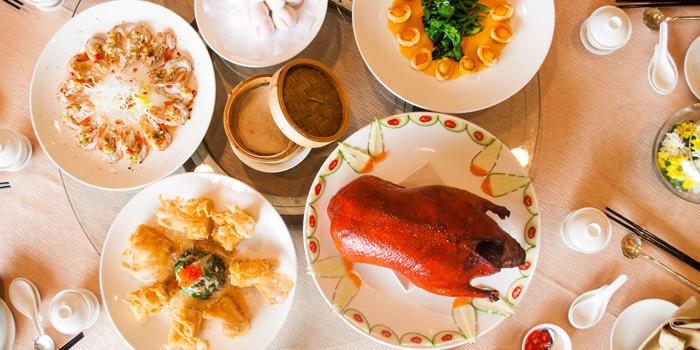 Menu Selection from Xin Tian Di at Crowne Plaza Bangkok Lumpini Park 952 Rama IV Road Bangkok