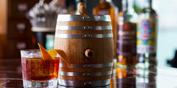 Oak Barrel aged Old Fashioned Cocktail, Red Sugar Bar, Hung Hom, Hong Kong