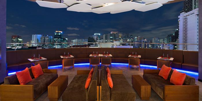 Outdoor Area from Crave Wine Bar & Restaurant at Aloft Bangkok 35 Sukhumvit Soi 11, Klongtoey-nua Wattana, Bangkok