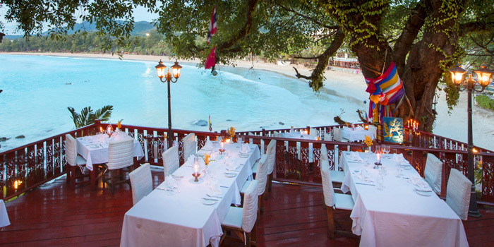 Outdoor Dining Area of Bella Vista Oceanfront Terrace Restaurant in Karon, Phuket, Thailand