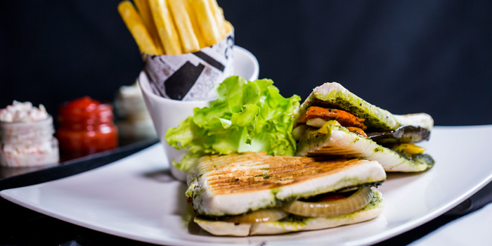 Vegetarian Panini from Panorama at Crowne Plaza Bangkok Lumpini Park 952 Rama IV Road Bangkok