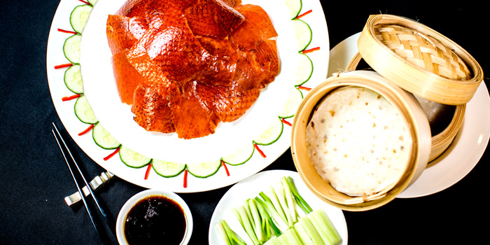 Peking Duck Set from Xin Tian Di at Crowne Plaza Bangkok Lumpini Park 952 Rama IV Road Bangkok