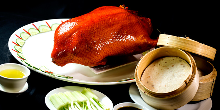 Whole Peking Duck from Xin Tian Di at Crowne Plaza Bangkok Lumpini Park 952 Rama IV Road Bangkok