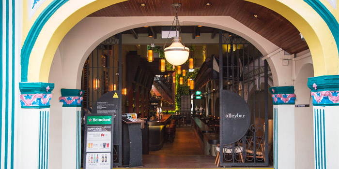 Exterior of Alley Bar at Peranakan Place in Orchard, Singapore