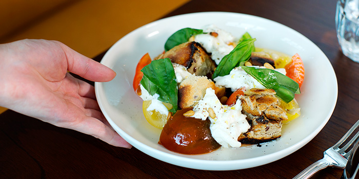 Burrata from Caffe Fernet at Customs House in Marina Bay, Singapore