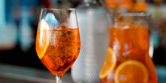 Classic Aperol Spritz from Caffe Fernet at Customs House in Marina Bay, Singapore