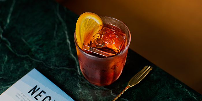 Classic Negroni from Caffe Fernet at Customs House in Marina Bay, Singapore