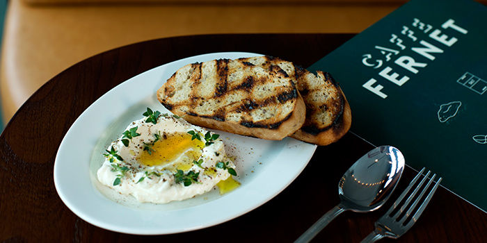 Housemade Ricotta Toast from Caffe Fernet at Customs House in Marina Bay, Singapore