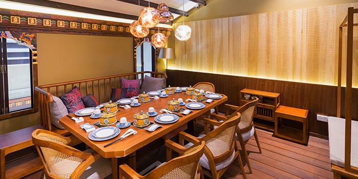 Private Dining Area of Ganglamedo Vegetarian Cuisine in Tanjong Pagar, Singapore