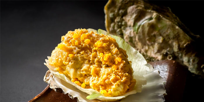 Baked Rock Oyster with Salted Egg Yolk from Wah Lok Cantonese Restaurant at Carlton Hotel in City Hall, Singapore