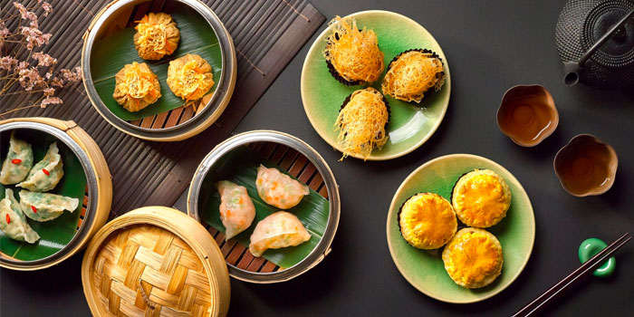 Dim Sum Spread from Wah Lok Cantonese Restaurant at Carlton Hotel in City Hall, Singapore
