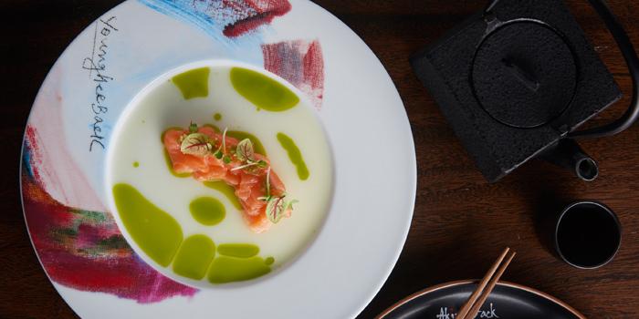 Salmon Tiradito from Akira Back at Marriott Marquis Sukhumvit 22, Klongton Klongtoey, Bangkok Thailand