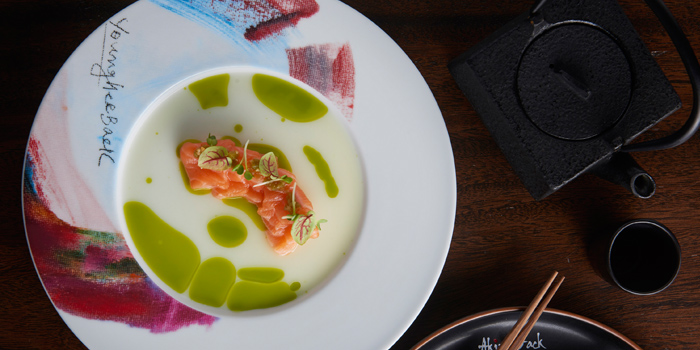Salmon Tiradito from Akira Back at Marriott Marquis Sukhumvit 22, Klongton Klongtoey, Bangkok Thailand