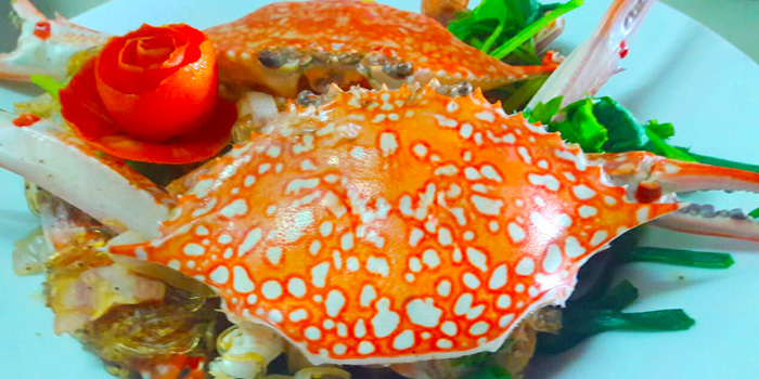 Sauteed Crab with Curry Powder from Salsa Mexicana in Patong, Phuket, Thailand.