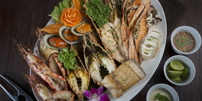 Seafood Basket from Bella Vista Oceanfront Terrace Restaurant in Karon, Phuket, Thailand