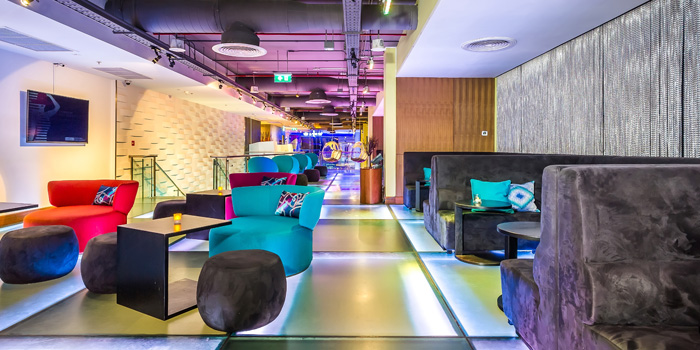 Seating Area of W XYZ Bar at Aloft Bangkok 35 Sukhumvit Soi 11,  Klongtoey-nua Wattana, Bangkok