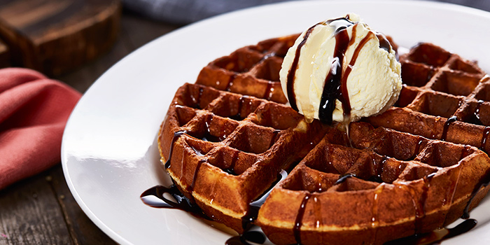 Signature Waffle from Citrus Bistro at Sengkang Sports Centre in Sengkang, Singapore