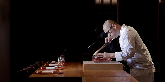 Chef Taro Takayama from Takayama Japanese Restaurant in OUE Downtown Gallery in Tanjong Pagar, Singapore