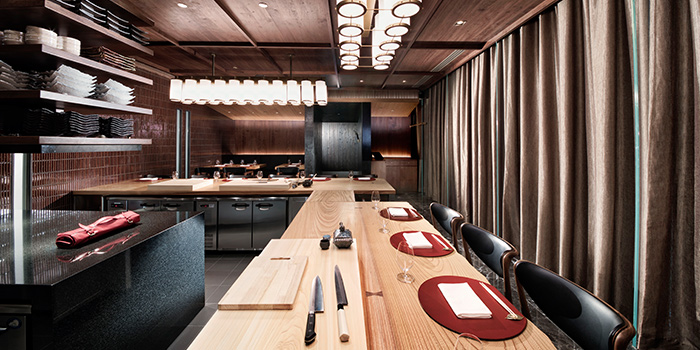 Main Dining Room in Takayama Japanese Restaurant in OUE Downtown Gallery in Tanjong Pagar, Singapore