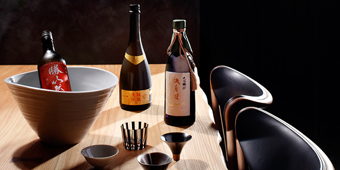 Sake from Takayama Japanese Restaurant in OUE Downtown Gallery in Tanjong Pagar, Singapore