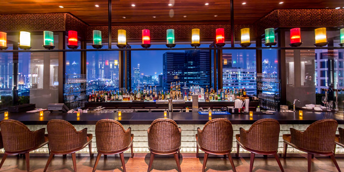 The Bar of Panorama at Crowne Plaza Bangkok Lumpini Park 952 Rama IV Road Bangkok