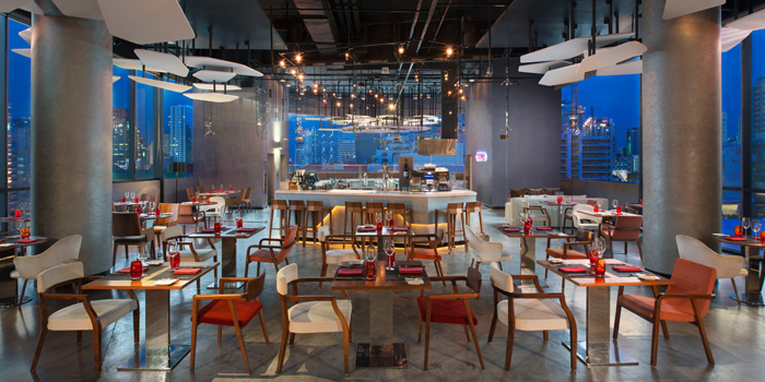 The Dining Room from Crave Wine Bar & Restaurant at Aloft Bangkok 35 Sukhumvit Soi 11, Klongtoey-nua Wattana, Bangkok