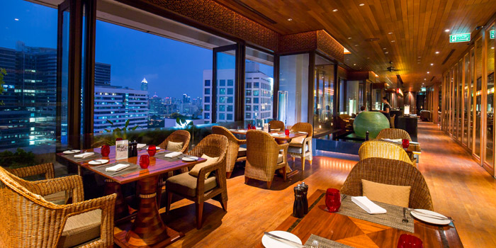 The View from Panorama at Crowne Plaza Bangkok Lumpini Park 952 Rama IV Road Bangkok