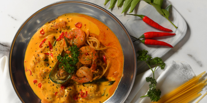 Tom Yam Seafood Pasta from 49 Seats at The Centrepoint in Orchard, Singapore