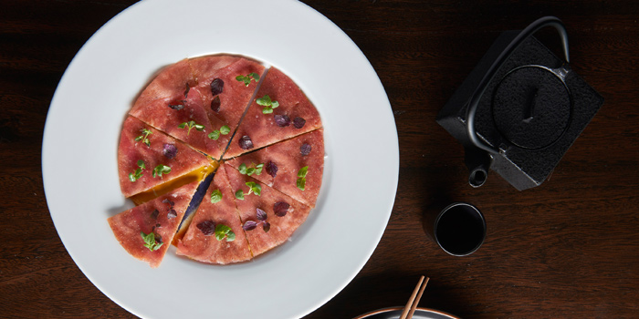 Tuna Pizza from Akira Back at Marriott Marquis Sukhumvit 22, Klongton Klongtoey, Bangkok Thailand