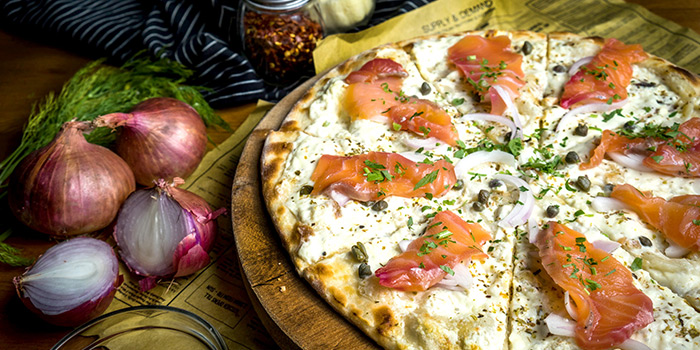 Lox Pizza from Equilibrium (by Supply & Demand) at Capitol Piazza in City Hall, Singapore