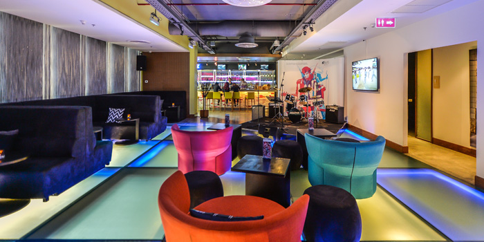 Second Floor Lounge of  W XYZ Bar at Aloft Bangkok 35 Sukhumvit Soi 11,  Klongtoey-nua Wattana, Bangkok