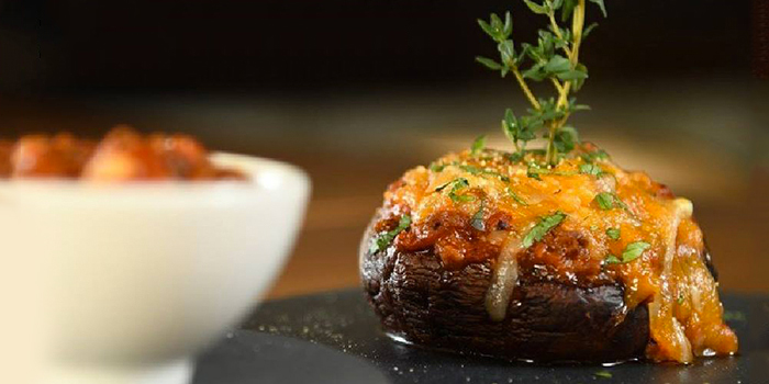 Baked Portobello with Meat Sauce, Uncle Pizza, Pasta & Grill, Central, Hong Kong