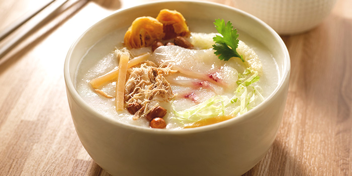 Classic Ting Zai Congee	from Crystal Jade Kitchen (Great World City) at Great World City in River Valley, Singapore
