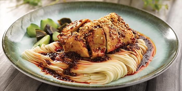 La Mian with Chilled Poached Chicken in Szechuan Sauce from Crystal Jade La Mian Xiao Long Bao (Bugis) at Bugis Junction in Bugis, Singapore