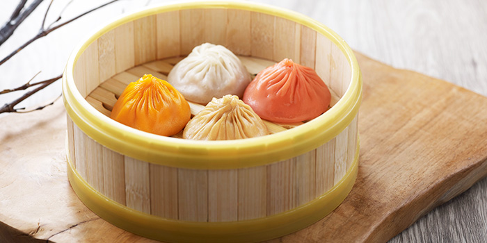Steamed Assorted Flavours Xiao Long Bao from Crystal Jade La Mian Xiao Long Bao (Takashimaya) at Takashimaya Shopping Centre in Orchard, Singapore