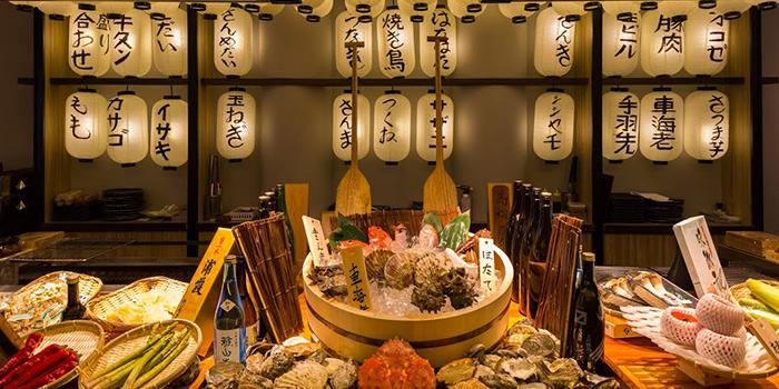 Counter Seat from Kurama Robatayaki X Sushi Murasaki at Millenia Walk in Promenade, Singapore