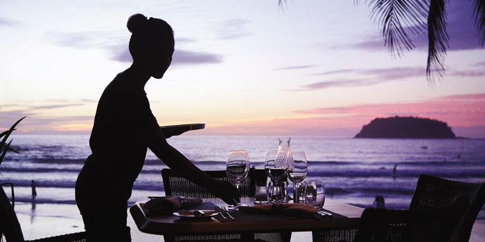 Dinner-with-Sunset of The Boathouse in Kata Beach, Muang Phuket, Thailand