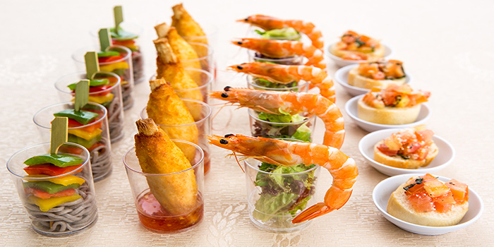 Appetizers of The FernTree Cafe at Hotel Miramar in River Valley, Singapore