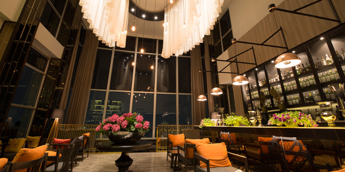 Indoor Ambience of Ceilo Sky Bar & Restaurant at W District Sukhumvit 69-71, Sukhumvit Rd Phra Khanong Nua Wattana, Bangkok