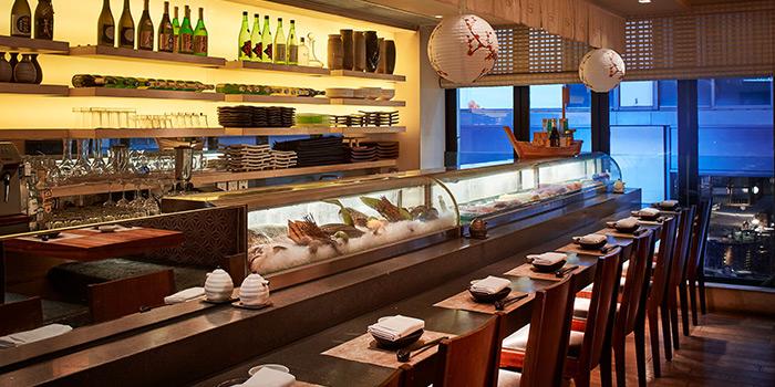 Interior of Kyoto Joe serving Japanese cuisine at Lan Kwai Fong, Central, Hong Kong