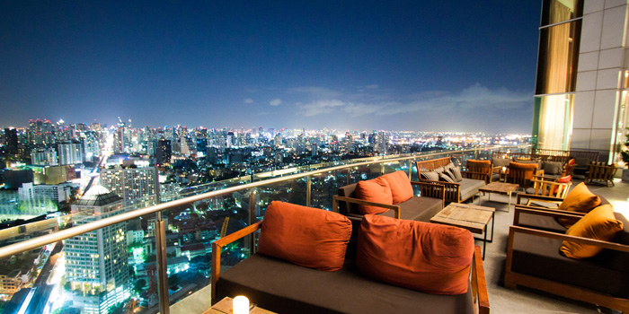 Outdoor Area of Ceilo Sky Bar & Restaurant at W District Sukhumvit 69-71, Sukhumvit Rd Phra Khanong Nua Wattana, Bangkok