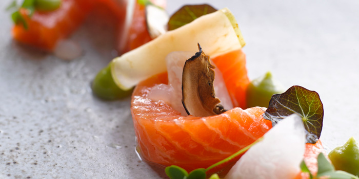 Cured Salmon at Starfish Bloo, Seminyak