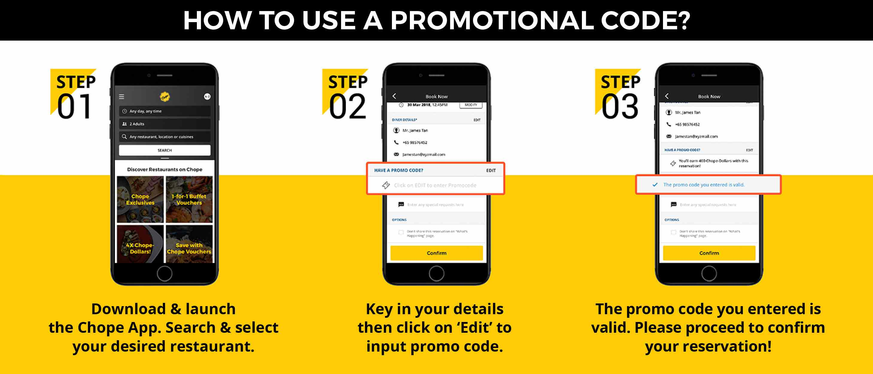 How to Use the Promo Code on Your Chope App?