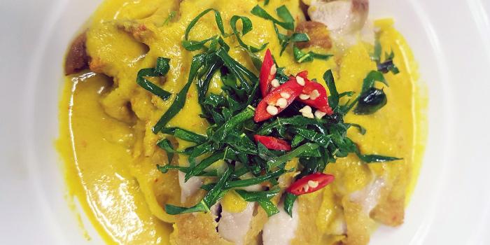 Ayam Lemak Chilli Padi Pasta from Flame Cafe in Paya Lebar, Singapore