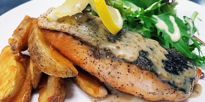 Grilled Salmon from Flame Cafe in Paya Lebar, Singapore