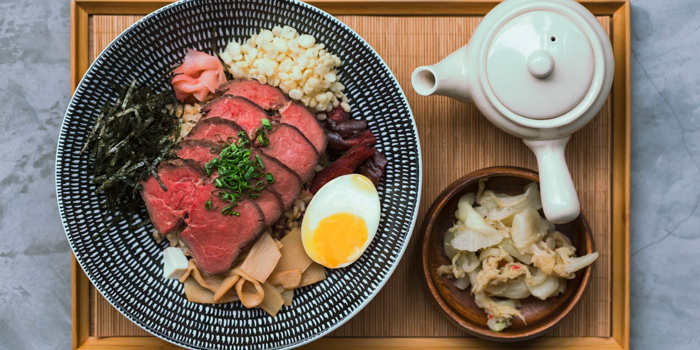 Soy Beef Chazuke from Haru in Paya Lebar, Singapore