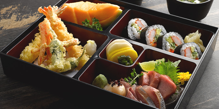 Tempura Sushi Set  from Hinata at Robertson Walk in Robertson Quay, Singapore