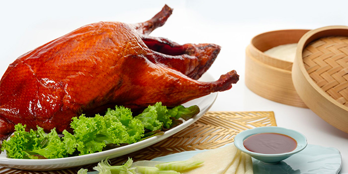 Barbequed Peking Duck from Li Bai Cantonese Restaurant at Sheraton Towers in Newton, Singapore