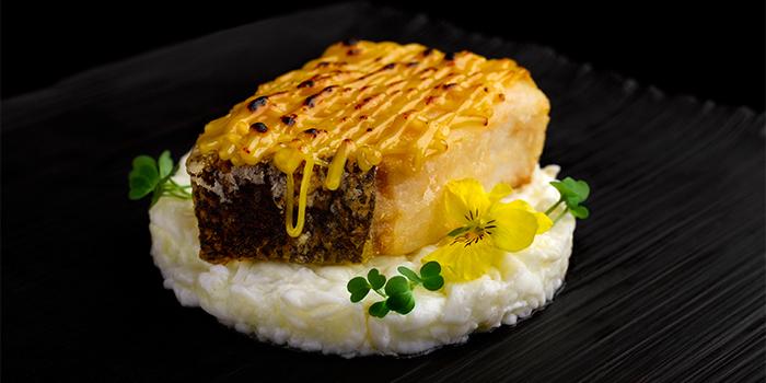Miso Shoyu Baked Cod Fish, Scrambled Egg White from Man Fu Yuan in InterContinental Singapore in Bugis, Singapore